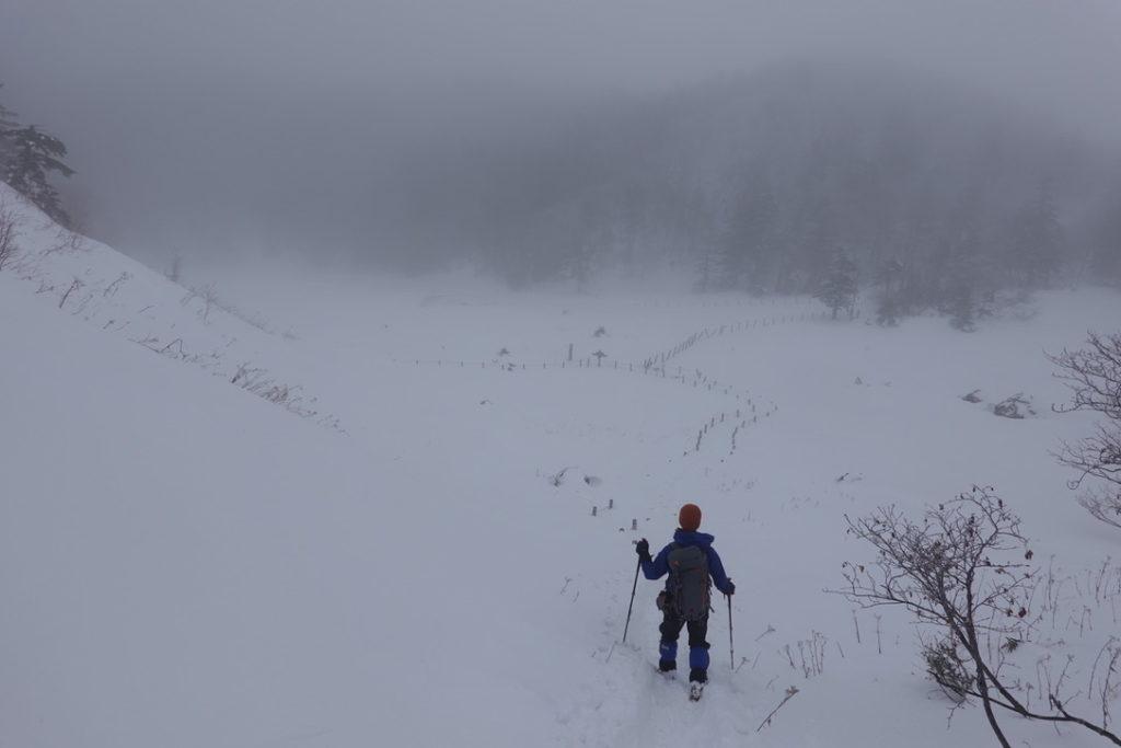 積雪期・日光白根山・だ~れもいない弥蛇ヶ池