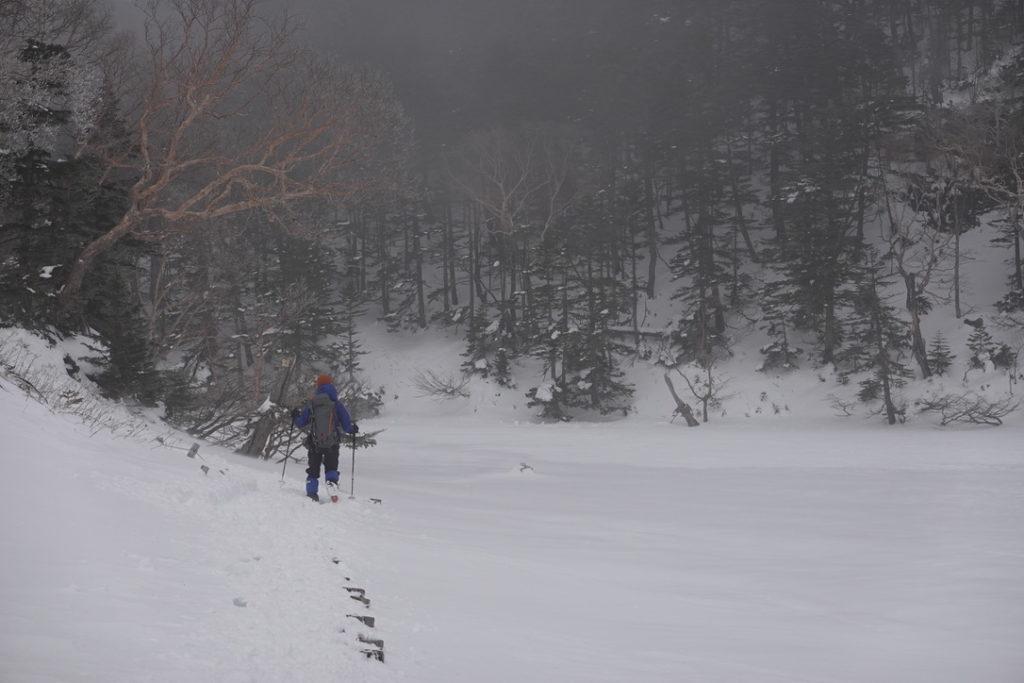 積雪期・日光白根山・撤退その2