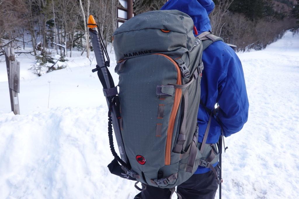 積雪期・日光白根山・相方の装備・MAMMUT(マムート)のトリオンプロ
