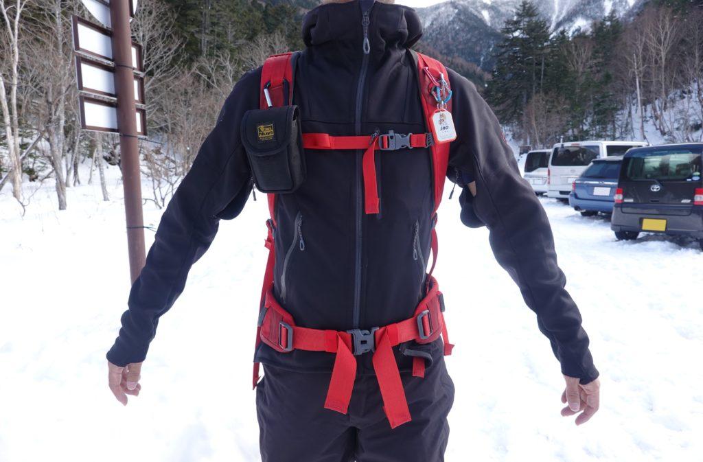 積雪期・日光白根山・わたしの装備・MAMMUT(マムート)のソフトシェル・アルティメイトフーディー