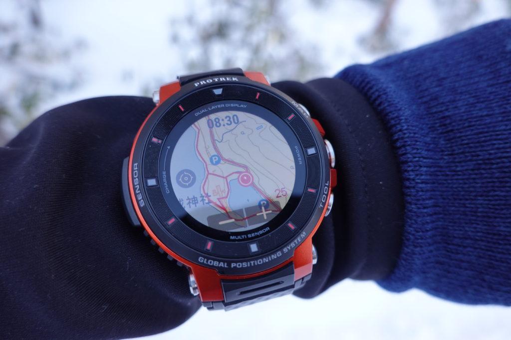 厳冬期・赤城山(黒檜山・駒ヶ岳)・PROTREK Smart(プロトレック スマート)