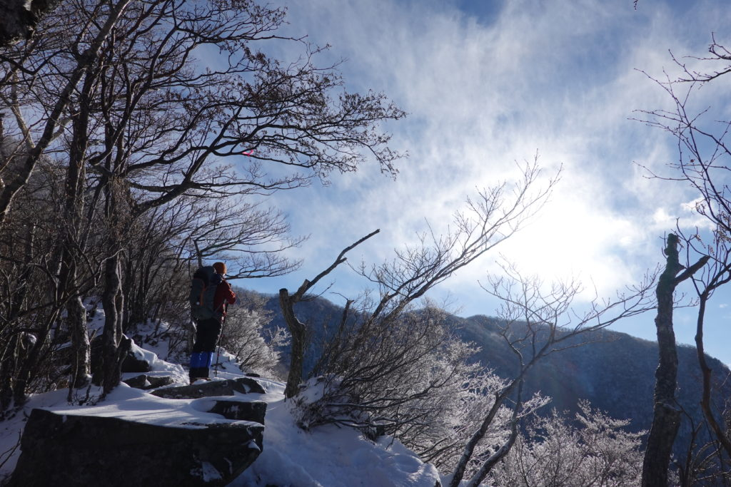 厳冬期・赤城山(黒檜山・駒ヶ岳)・大沼絶景ポイント(猫岩付近)