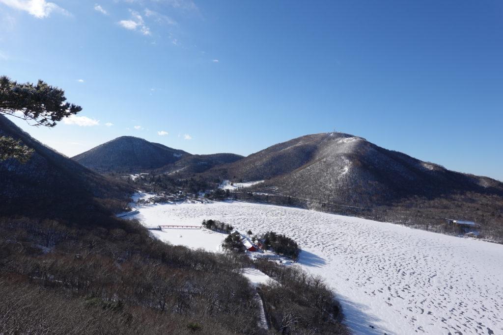 厳冬期・赤城山(黒檜山・駒ヶ岳)・黒檜山からの大沼