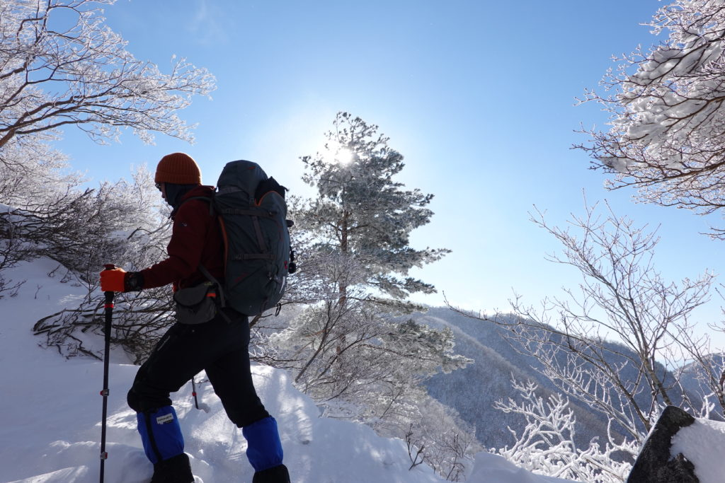 厳冬期・赤城山(黒檜山・駒ヶ岳)・黒檜山山頂へ