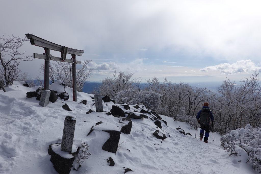 厳冬期・赤城山(黒檜山・駒ヶ岳)・黒檜山大神
