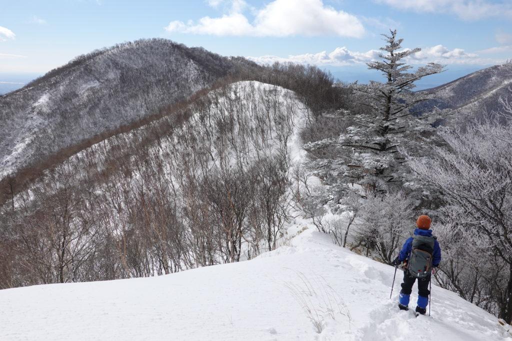 厳冬期・赤城山(黒檜山・駒ヶ岳)・大ダルミと駒ヶ岳