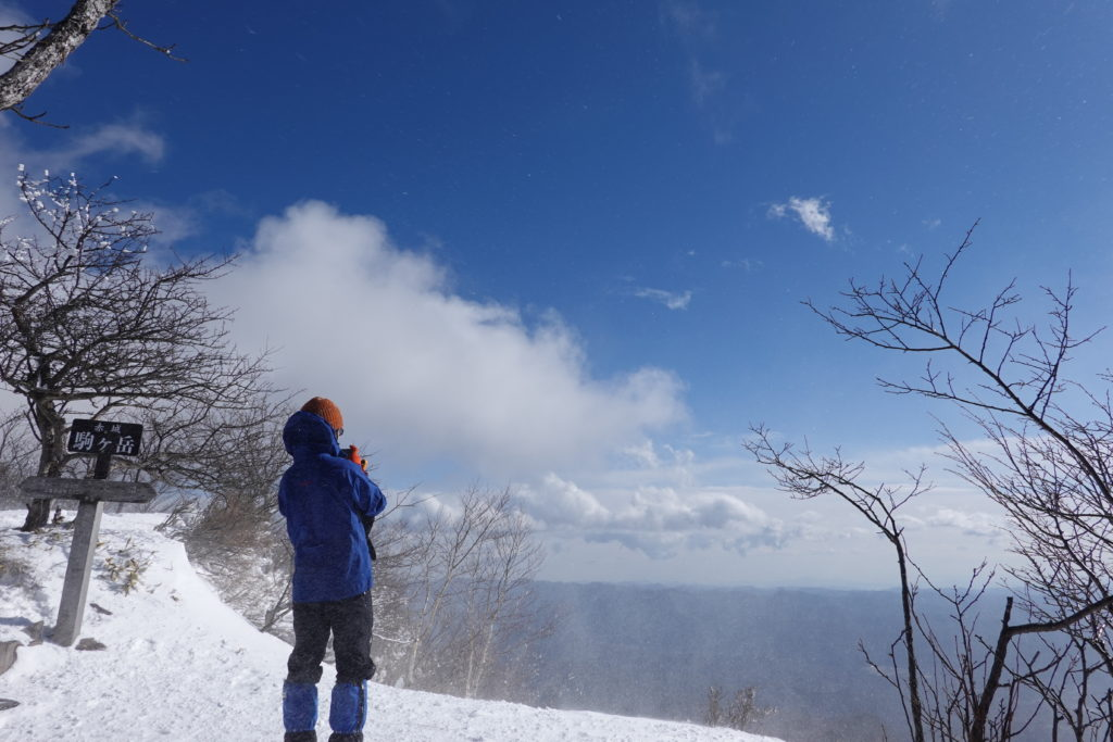 厳冬期・赤城山(黒檜山・駒ヶ岳)・駒ヶ岳山頂