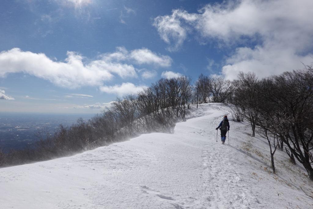 厳冬期・赤城山(黒檜山・駒ヶ岳)・駒ヶ岳から大洞・大沼へ