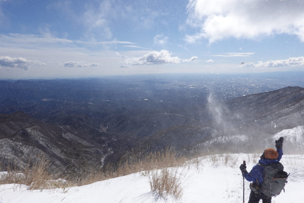 厳冬期・赤城山(黒檜山・駒ヶ岳)・雪遊び