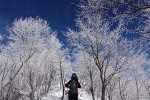 厳冬期・赤城山(黒檜山・駒ヶ岳)・霧氷(樹氷)の黒檜山