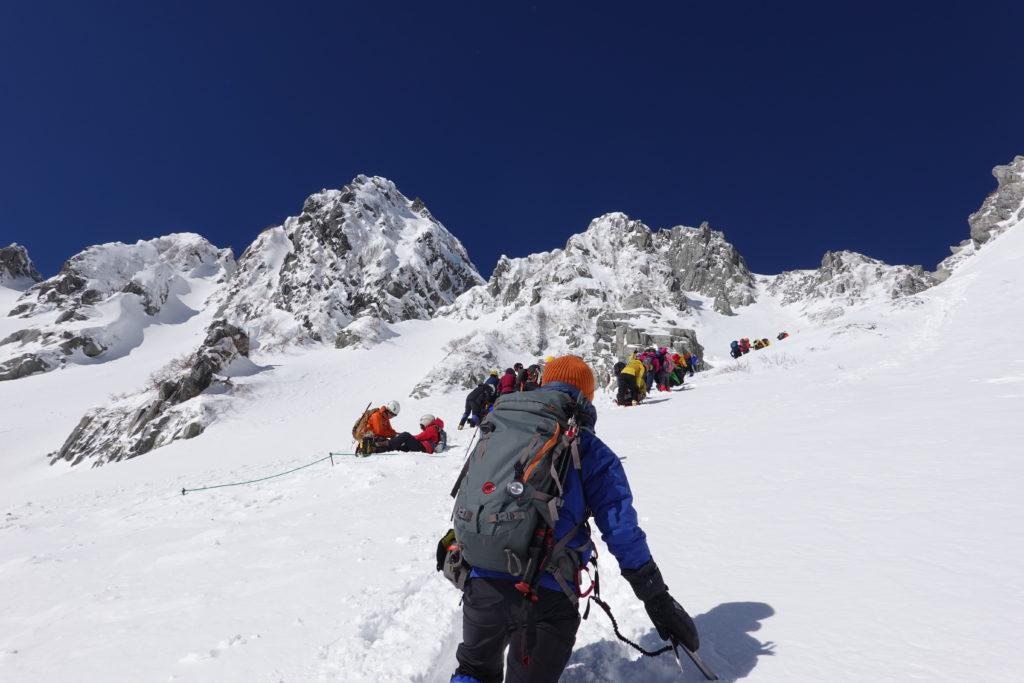 厳冬期・木曽駒ヶ岳・八丁坂を登る2