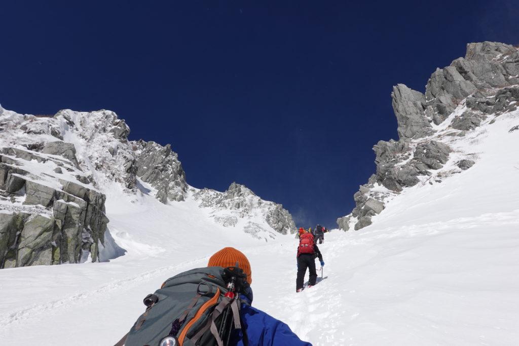 厳冬期・木曽駒ヶ岳・八丁坂を登る3