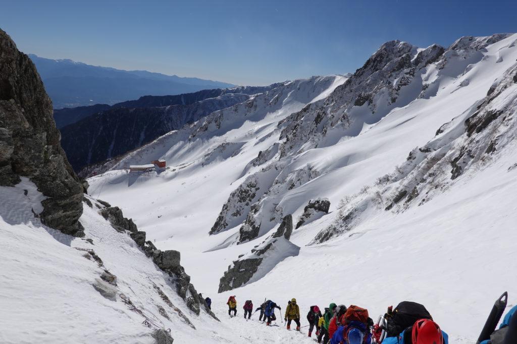 厳冬期・木曽駒ヶ岳・八丁坂を登る4