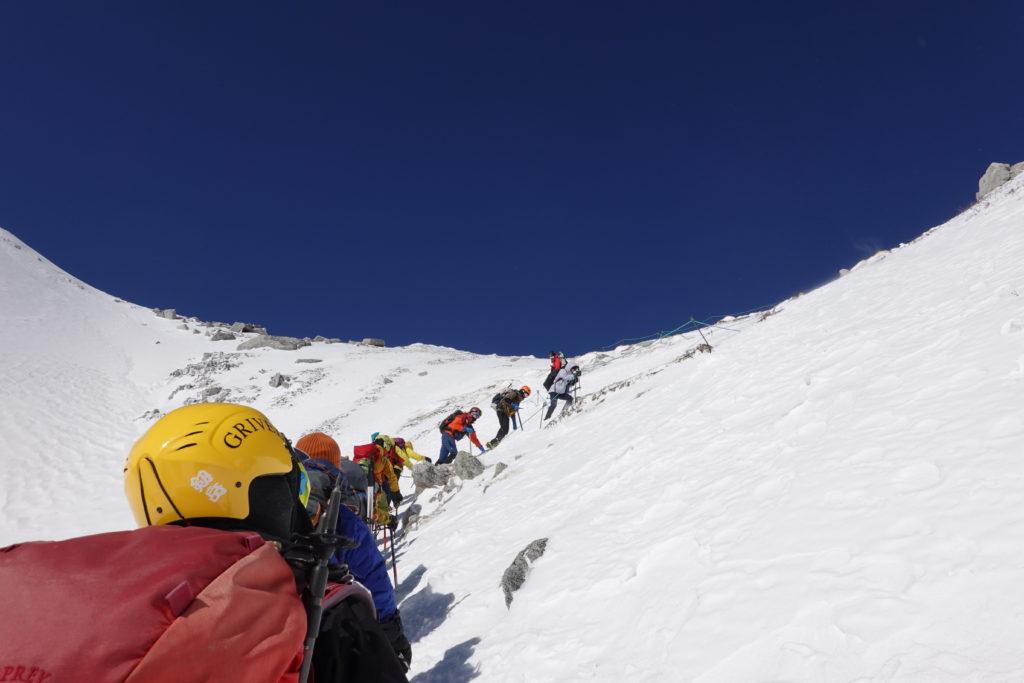 厳冬期・木曽駒ヶ岳・八丁坂を登る5