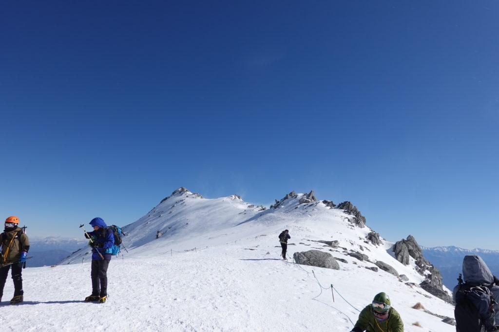 厳冬期・木曽駒ヶ岳・乗越浄土から伊那前岳
