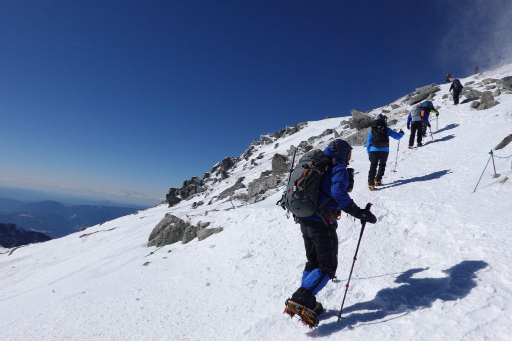 厳冬期・木曽駒ヶ岳・木曽駒ヶ岳アタック