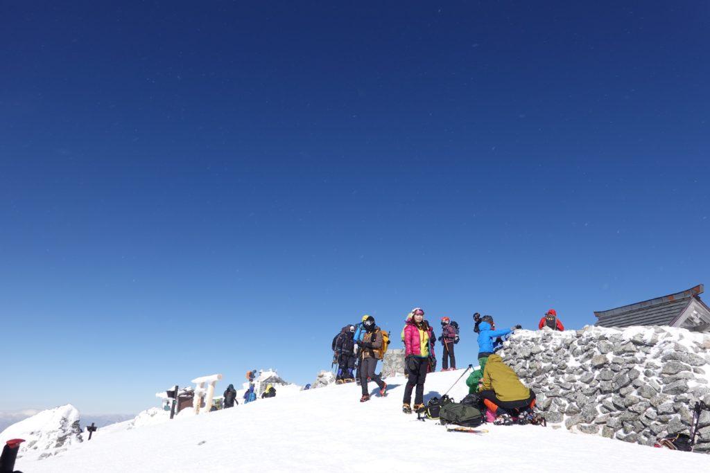 厳冬期・木曽駒ヶ岳・木曽駒ヶ岳山頂