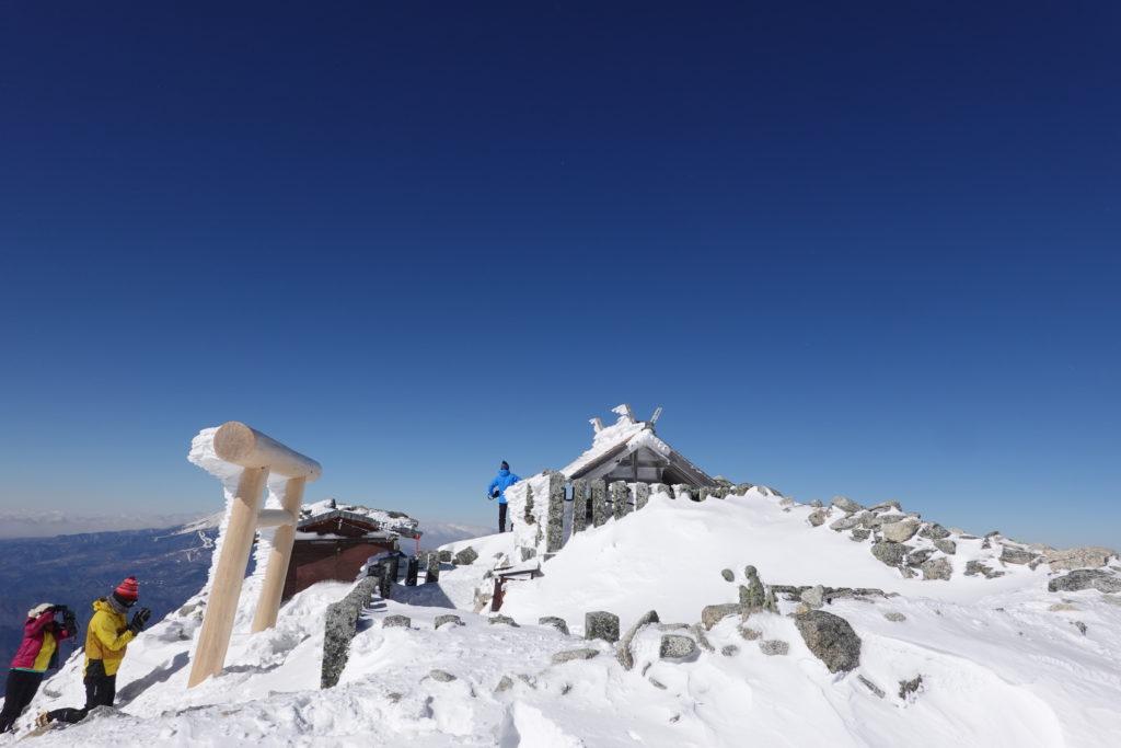 厳冬期・木曽駒ヶ岳・木曽駒ヶ岳神社