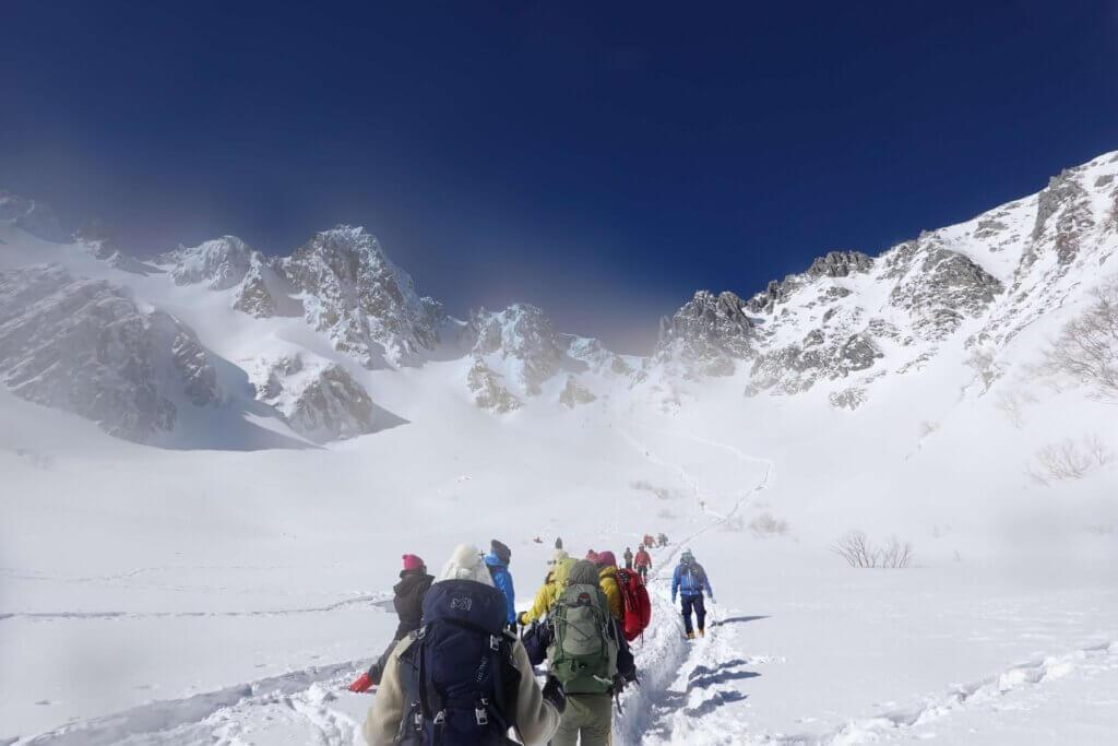 厳冬期・木曽駒ヶ岳・千畳敷カールを振り返る