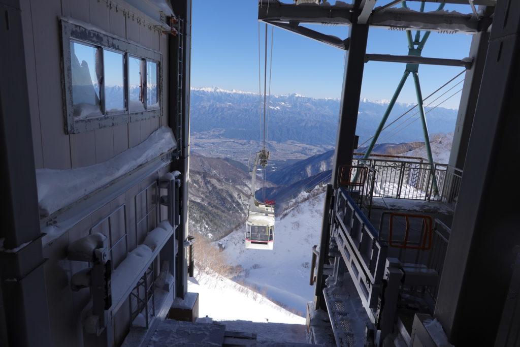 厳冬期・木曽駒ヶ岳・駒ヶ岳ロープウェイ