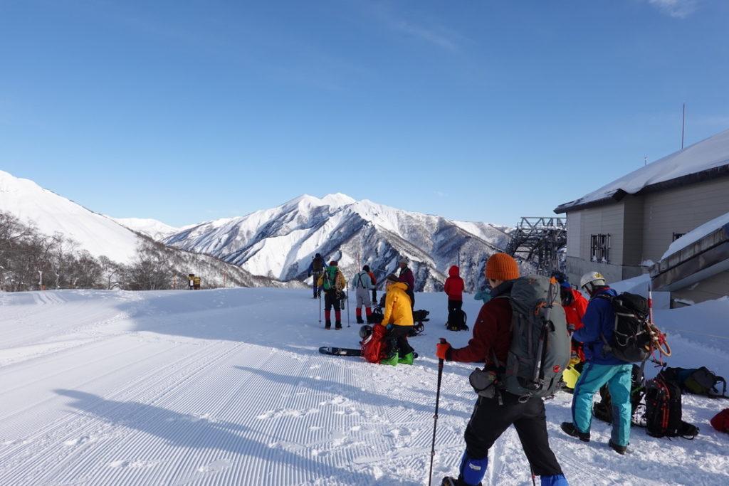 厳冬期・谷川岳・天神平からの白毛門(しらがもん)