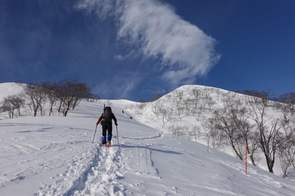 厳冬期・谷川岳・天神平からの最初の急登