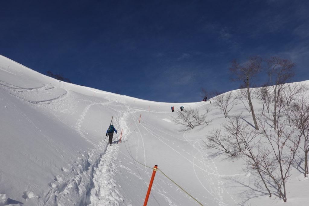 厳冬期・谷川岳・天神平からの最初の急登2