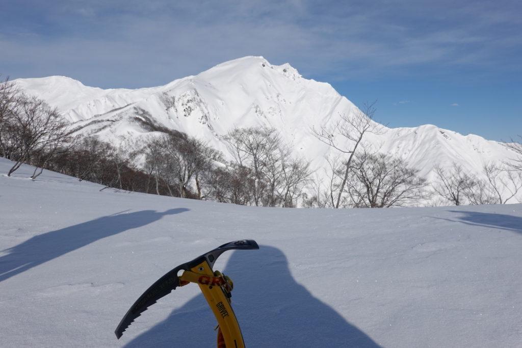 厳冬期・谷川岳・ゲレンデすぐのベストビュースポット