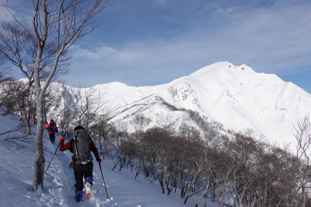 厳冬期・谷川岳・熊穴沢避難小屋へ・ちょっとだけ樹林帯