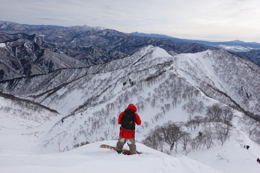 厳冬期・谷川岳・天神尾根・バックカントリープレイヤー