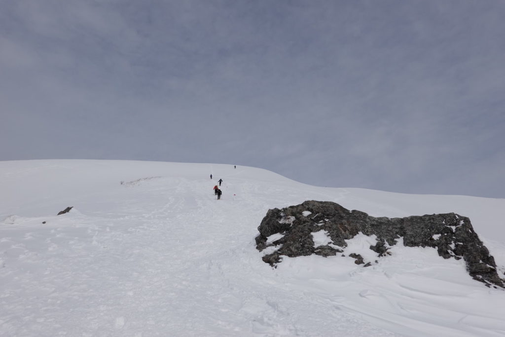 厳冬期・谷川岳・天神尾根・ザンゲ岩