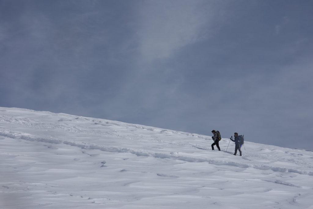 厳冬期・谷川岳・肩ノ広場からトマノ耳へ