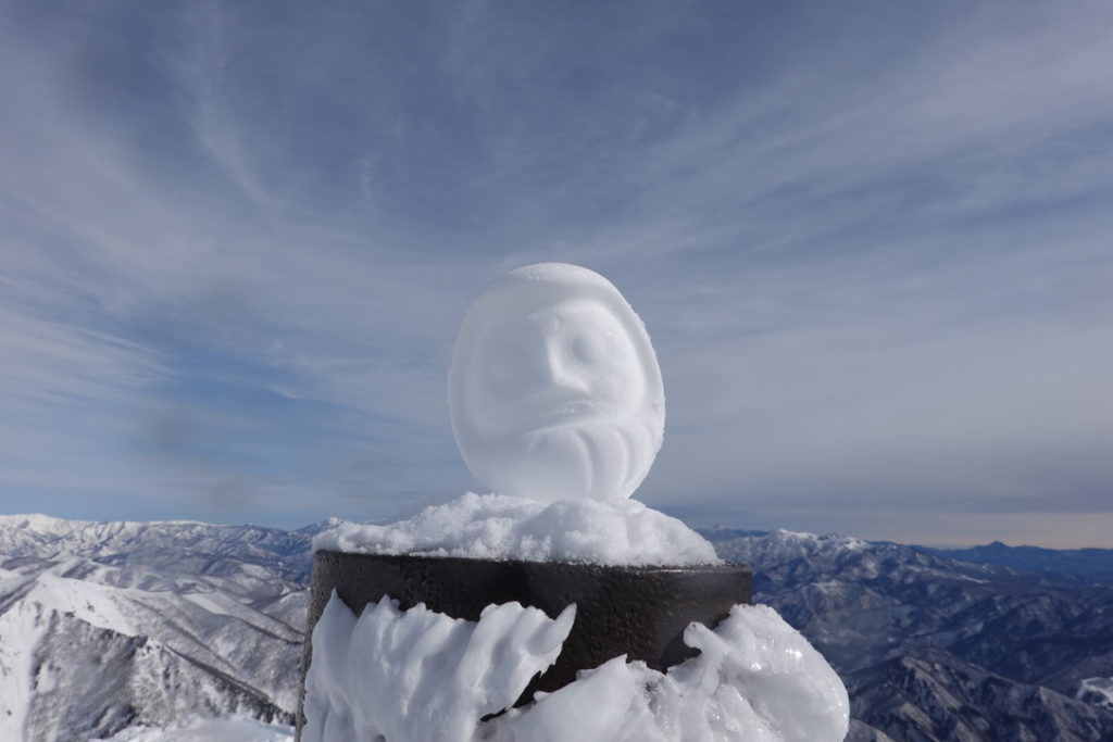 厳冬期・谷川岳・トマノ耳と雪だるま
