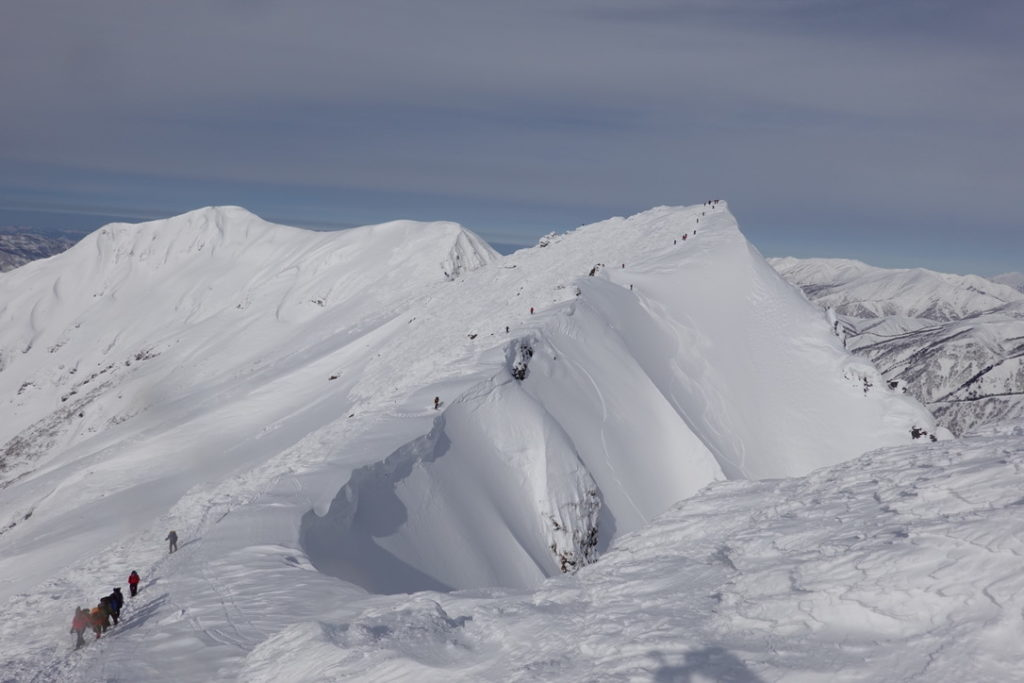 厳冬期・谷川岳・トマノ耳からオキノ耳
