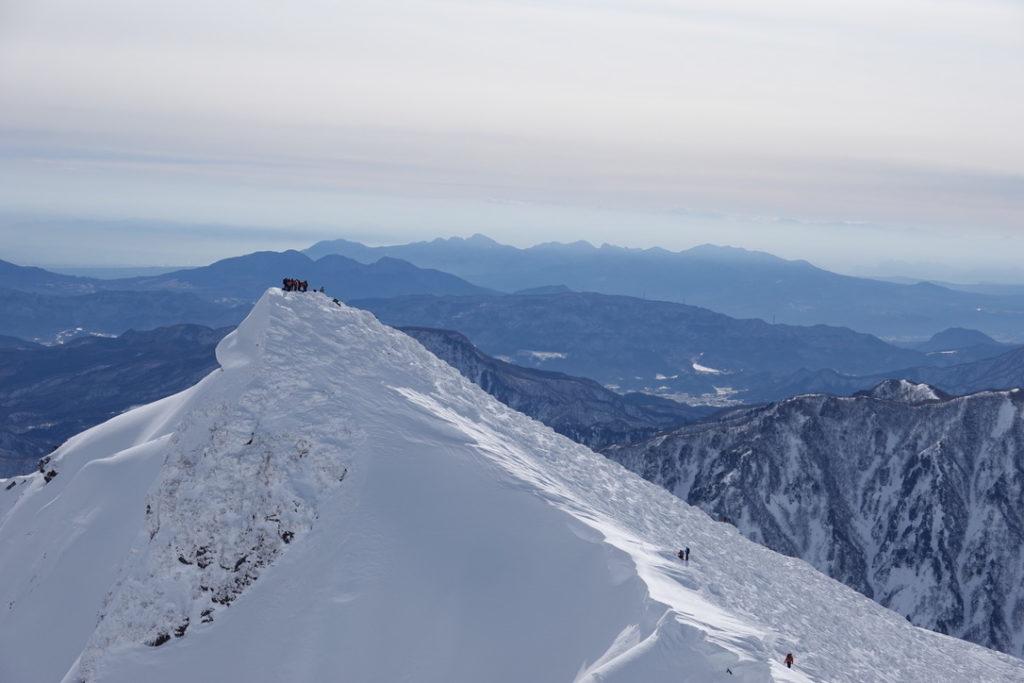 厳冬期・谷川岳・オキノ耳からトマノ耳