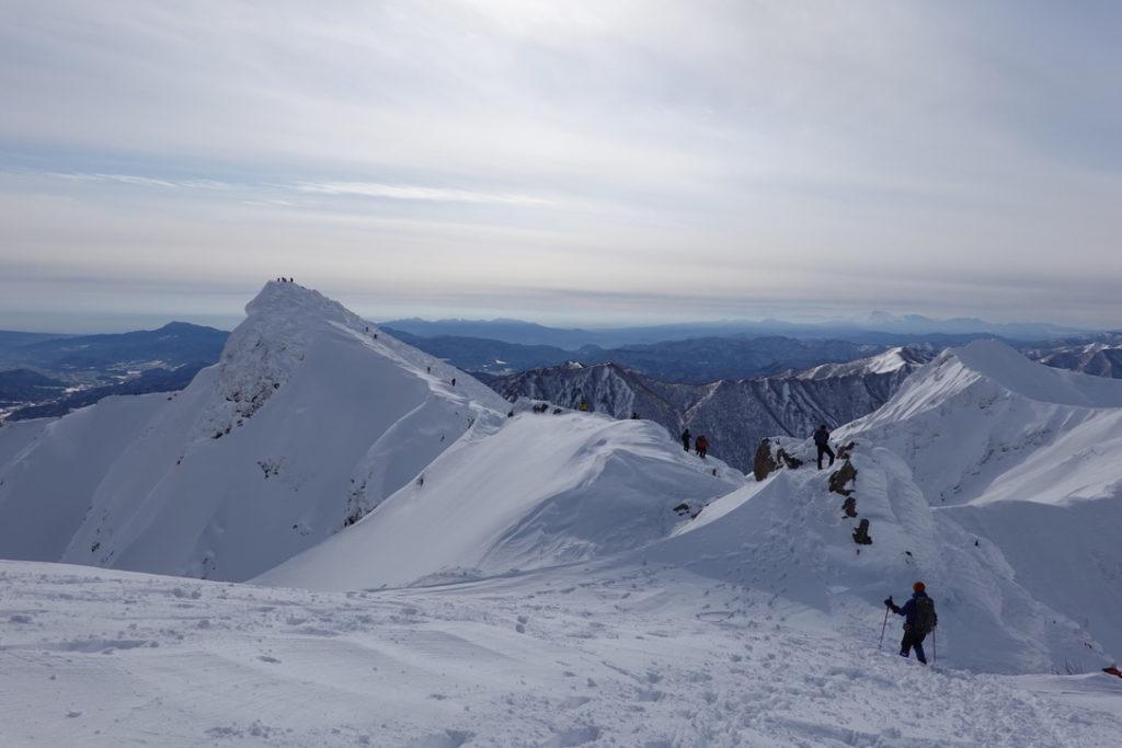 厳冬期・谷川岳・オキノ耳からトマノ耳へ