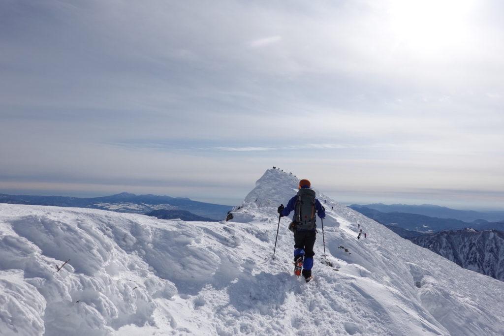 厳冬期・谷川岳・オキノ耳からトマノ耳へ・その2