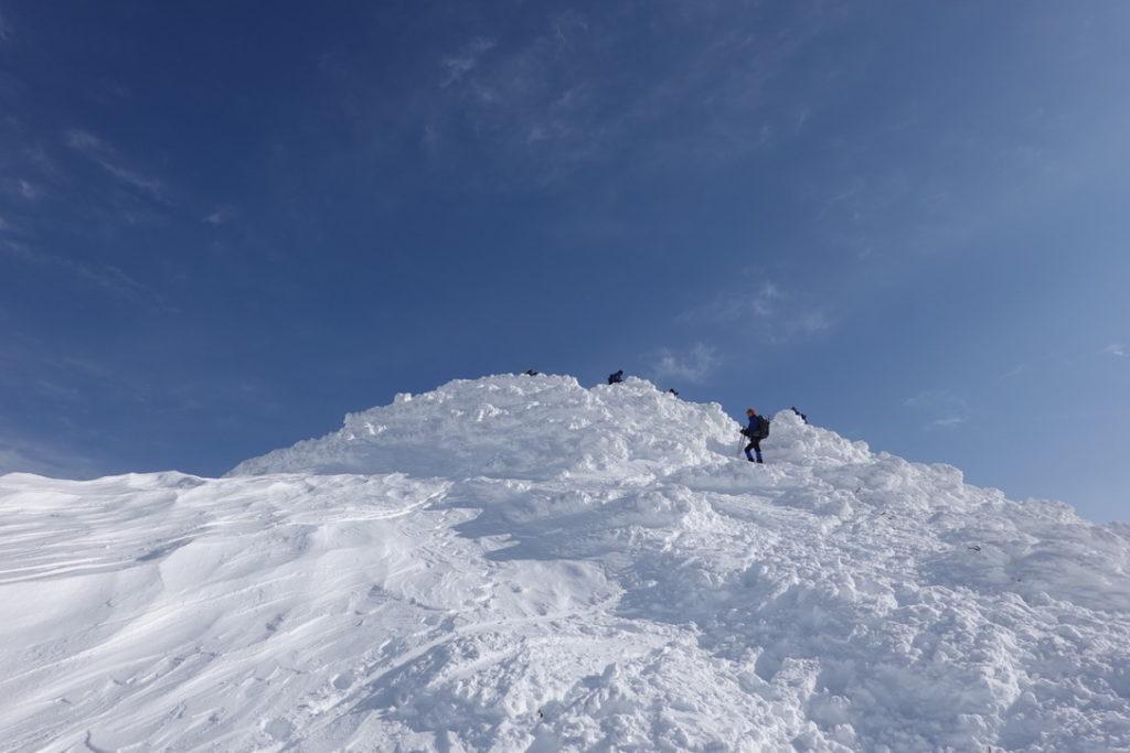厳冬期・谷川岳・トマノ耳山頂再び