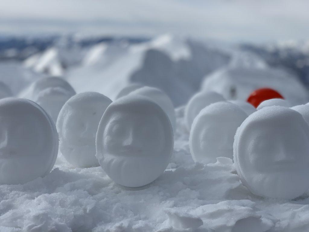 厳冬期・谷川岳・肩ノ小屋の雪だるま's