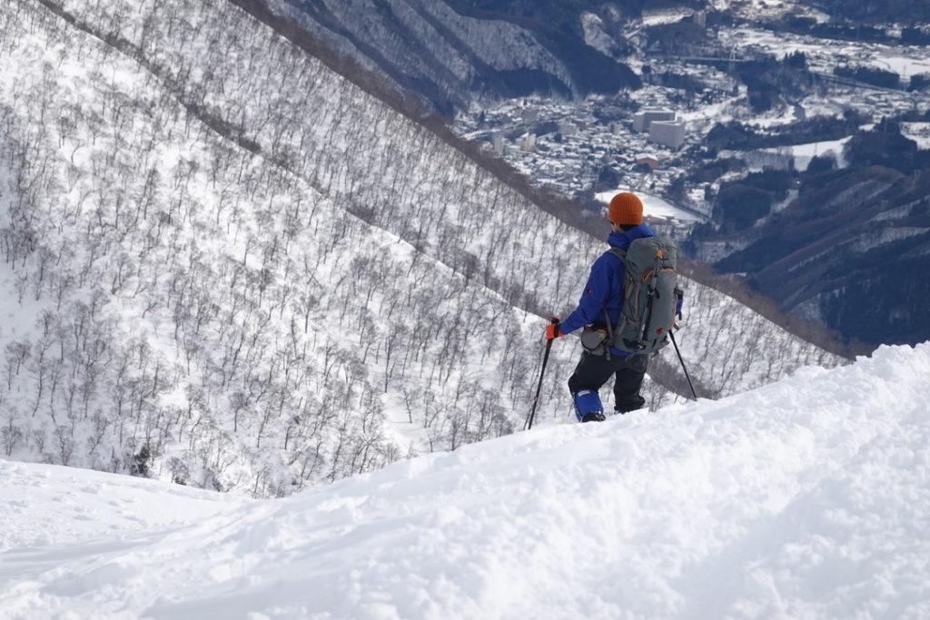 厳冬期・谷川岳・天神尾根・下山