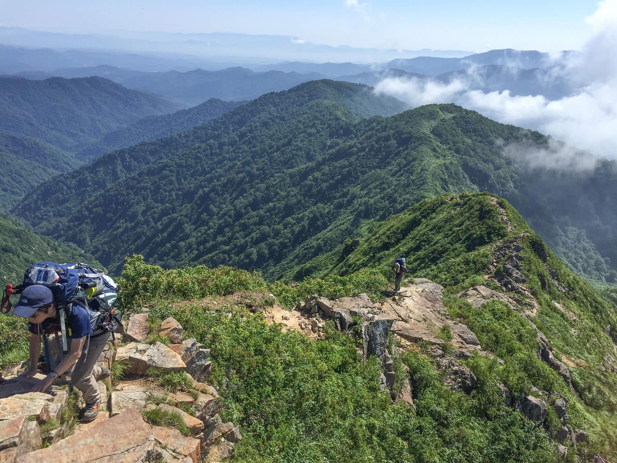飯豊山・剣ヶ峰の岩稜歩き・振り返ってみましょう