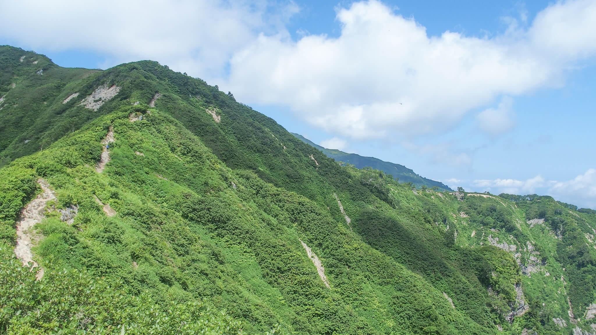 飯豊山・種蒔山に至る道