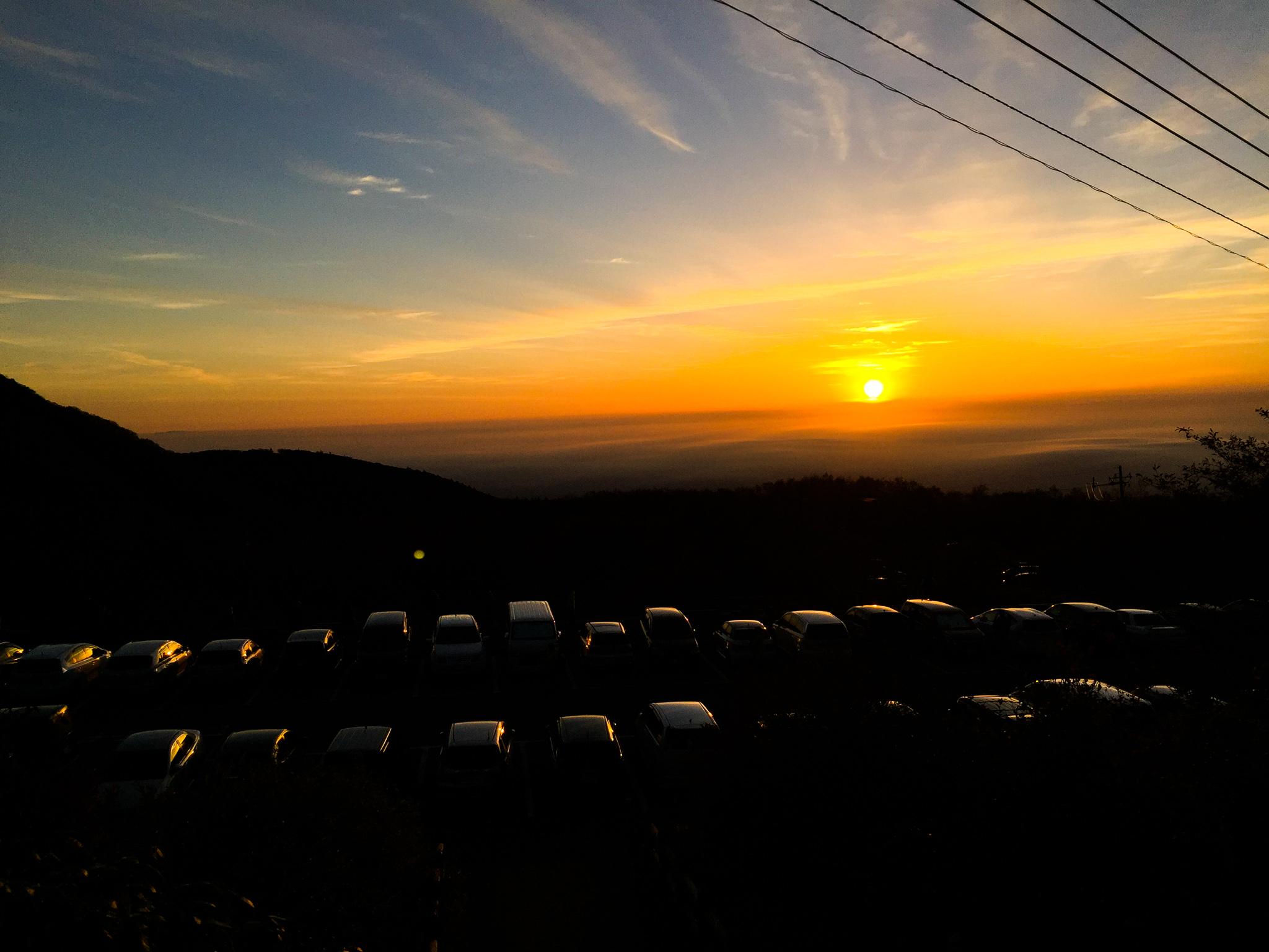那須岳・峠の茶屋の駐車場