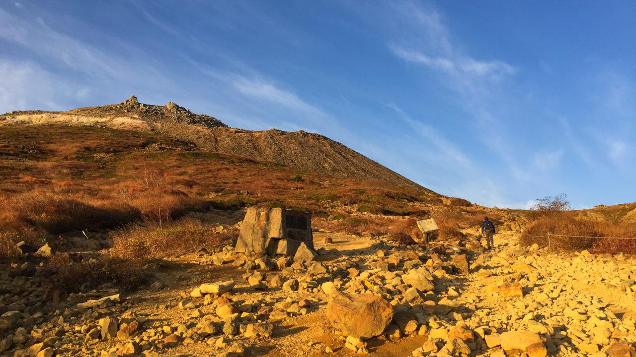 那須岳・峠の茶屋から避難小屋までの登山道・茶臼岳