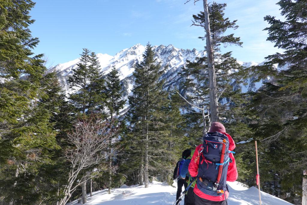 厳冬期・西穂高岳・西穂独標・西穂山荘へ・西穂高岳が見えた!