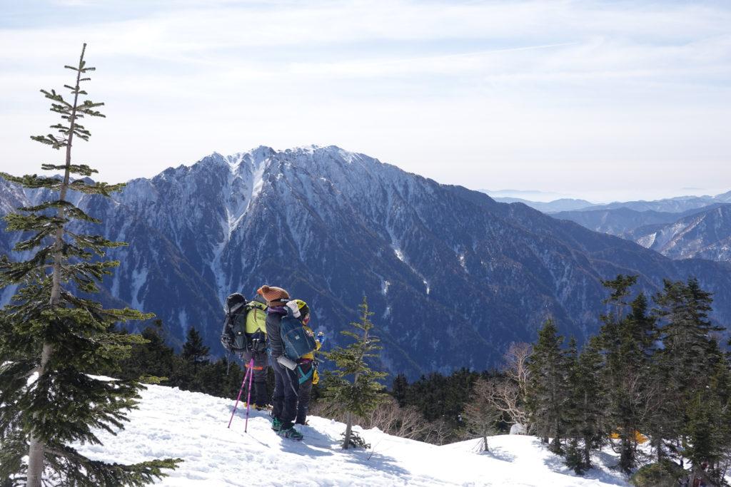 厳冬期・西穂高岳・西穂独標・西穂山荘からの霞沢岳