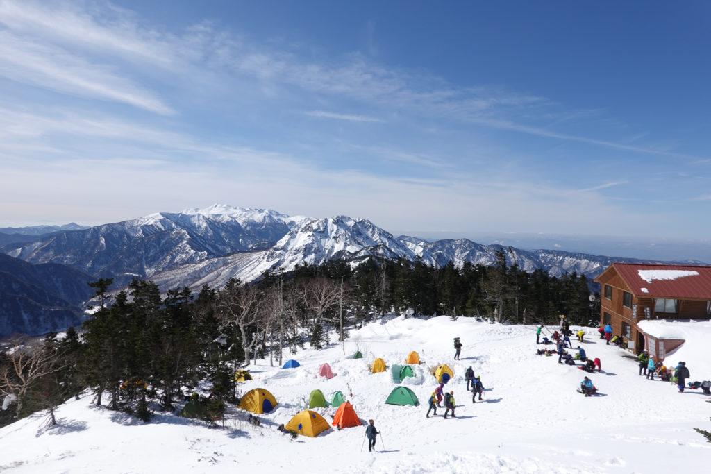 厳冬期・西穂高岳・西穂独標・西穂山荘