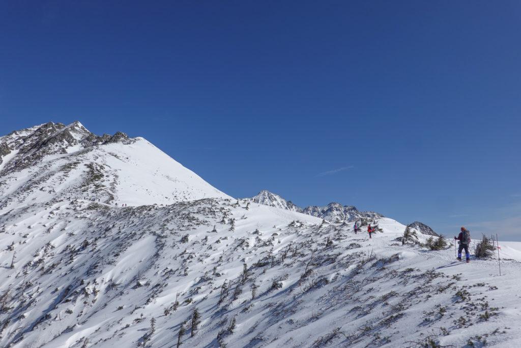 厳冬期・西穂高岳・西穂独標・西穂丸山へ・こんな景色が見えていただなんて!