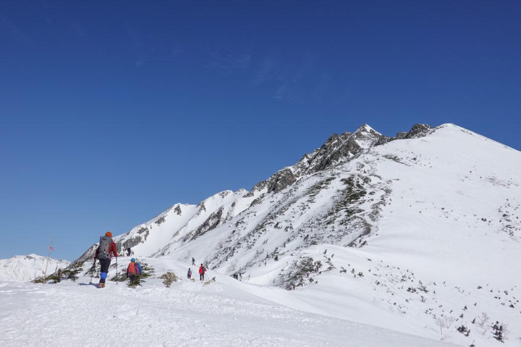 厳冬期・西穂高岳・西穂独標・西穂丸山へ・丸山からの西穂高岳