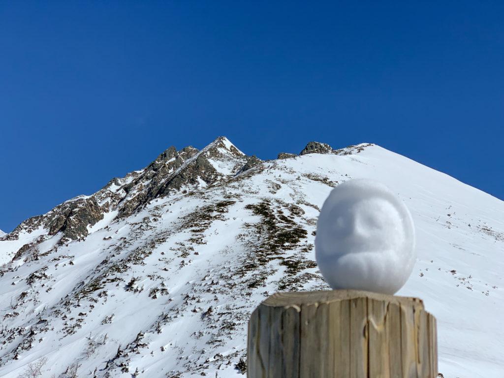 厳冬期・西穂高岳・西穂独標・西穂丸山の雪だるま